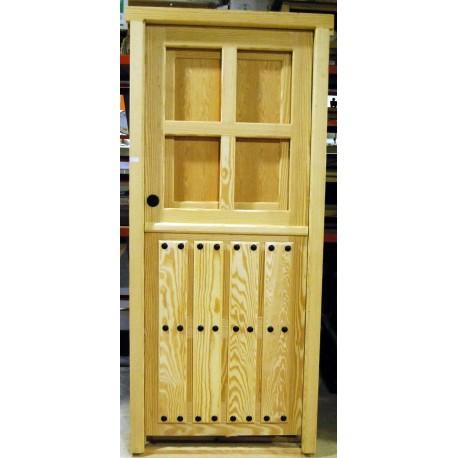 Puerta exterior pino melix maciza
