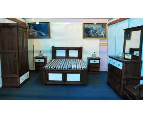 Dormitorio castaño completo
