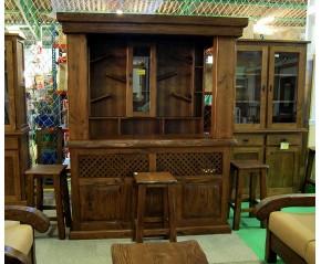 Mueble bar con barra
