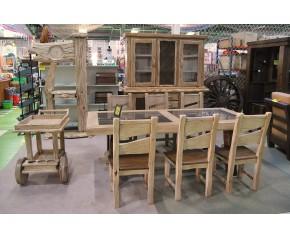 Salón completo madera maciza