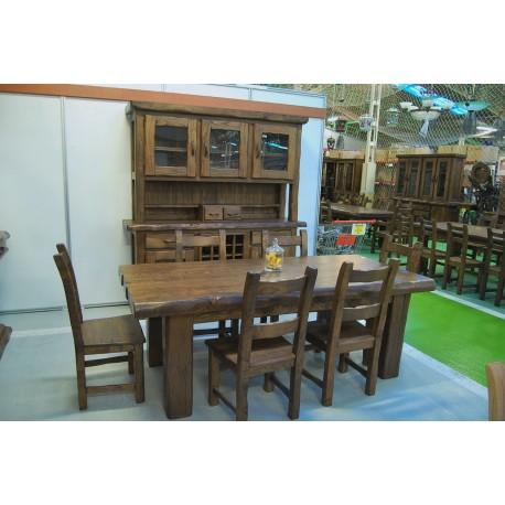 2500€ conjunto comedor madera castaño